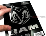 Dodge Ram Chrome Vinyl Sticker Decal