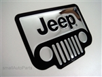 Jeep Chrome Vinyl Sticker Decal