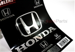 Honda Chrome Vinyl Sticker Decal