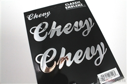 Chevrolet Chrome Vinyl Stickers