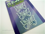 Butterfly Rhinestones Decal Sticker
