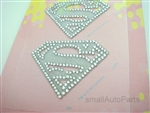 Super Girl Rhinestones Decal Sticker