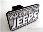 Remove To Tow Jeeps Tow Hitch Cover