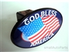 God Bless America USA Flag Tow Hitch Cover