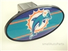 Miami Dolphins NFL Tow Hitch Cover