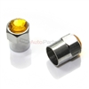 Yellow Crystal Diamond Bling Tire Valve Stem Caps