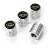 Chevy Logo Chrome Aluminum Tire Stem Valve Caps