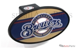 Milwaukee Brewers MLB Tow Hitch Cover