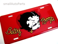 Betty Boop Aluminum License Plate