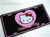 Hello Kitty Aluminum License Plate