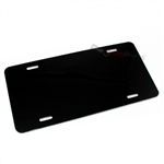 Black Blank Aluminum License Plate