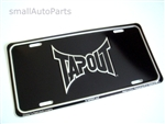 Tap Out Aluminum License Plate