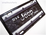 It's A Jeep Thing Aluminum License Plate