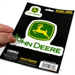John Deere Clear Vinyl Sticker Decal