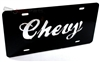 Chevrolet Acrylic Black License Plate Tag