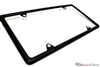 Matte Black Metal License Plate Frame