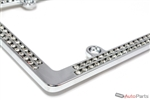 Chrome Diamond Bling License Plate Frame