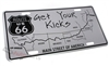 Route 66 Get Your Kicks Aluminum License Plate