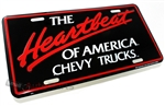 Chevrolet The Heartbeat Of America Aluminum License Plate