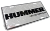 Hummer Like Nothing Else Aluminum License Plate