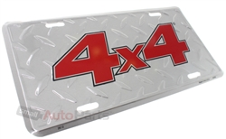 4x4 Aluminum License Plate