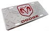 Dodge Aluminum License Plate