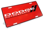 Dodge Motorsports Aluminum License Plate