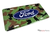 Ford Camouflage Aluminum License Plate