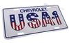 Chevrolet USA-1 Aluminum License Plate