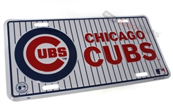 Chicago Cubs MLB Aluminum License Plate Tag