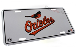Baltimore Orioles MLB Aluminum License Plate Tag