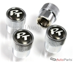 Chrysler PT Cruiser Black Logo Chrome ABS Tire Stem Valve Caps