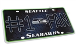 Seattle Seahawks #1 Fan NFL Aluminum License Plate Tag