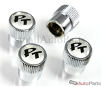 Chrysler PT Cruiser Silver Logo Chrome ABS Tire Stem Valve Caps