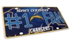 San Diego Chargers #1 Fan NFL Aluminum License Plate Tag