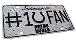 Indianapolis Colts #1 Fan NFL Aluminum License Plate Tag