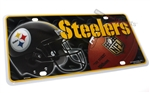 Pittsburgh Steelers #1 Fan NFL Aluminum License Plate Tag