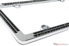 Chrome Black Diamond Bling License Plate Frame