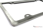 Brushed Aluminum License Plate Frame