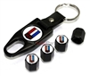 Chevrolet Camaro Logo Black ABS Tire Valve Stem Caps & Key Chain