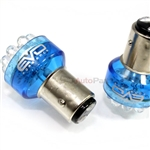 2 x Blue 1157 LED Bulbs