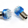 2 x Blue 1156 LED Bulbs