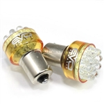 2 x Amber Yellow 1156 LED Bulbs