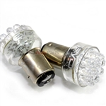2 x White 1157 LED Bulbs