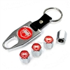 Dodge Viper Red Logo Chrome ABS Tire Valve Stem Caps & Key Chain