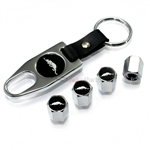 Plymouth Prowler Chrome ABS Tire Valve Stem Caps & Key Chain