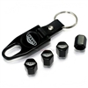 Pontiac GTO Logo Black ABS Tire Valve Stem Caps & Key Chain