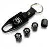 Dodge Ram Black Logo Black ABS Tire Valve Stem Caps & Key Chain