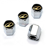Oldsmobile Gold Logo Chrome ABS Tire Valve Stem Caps