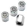 Chrysler Silver Logo Chrome ABS Tire Valve Stem Caps
